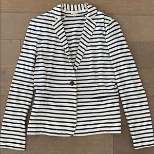 J.Crew Navy and Cream Striped Blazer